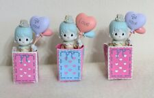 """New ListingPrecious Moments - set of 3 Clowns with Balloons in Bag - """"Be Mine"""" & """"Love"""""""