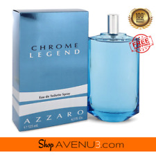 Azzaro CHROME LEGEND 4.2oz/125ml EDT Spray Cologne for Men*BRAND NEW SEALED BOX*
