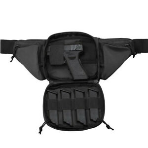 Tactical Fanny Pack Holster Concealed Carry Pistol Gun Pouch Military Waist Bag