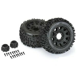 NEW Pro-Line Badlands 3.8 Tires on Raid 8x32 17mm Removable Hex Wheels FREE SHIP