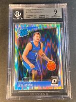 LUKA DONCIC 2018 DONRUSS OPTIC #177 SHOCK REFRACTOR ROOKIE BGS 9 W/3 9.5 SUBS A
