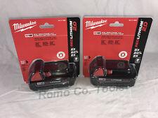 Milwaukee M18 (2) 2.0 Ah Batteries (New In Retail Packaging) NEW