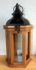Holzlaterne mit Metalldach Dekoration 35 x Ø15 cm (GP=24,95€/Einheit)
