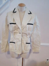 spiegel leather black white jacket new 6                       #50