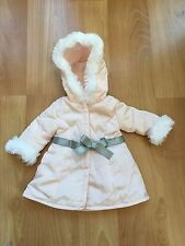American Girl Pretty Pink coat for 18 in dolls gray grey bow white fur jacket
