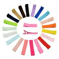 20Pcs Cute Baby Kids Girls Hairpin Hair Clips Grosgrain Ribbon Hair Accessories