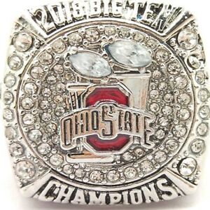 Ohio State Buckeyes 2018 QB Dwayne Haskins Silver Big Ten Championship Ring SZ 8