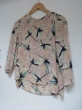 Ladies Lovely Atmoshere Pink Mix Floral Blouse Top Size 12, Vgc