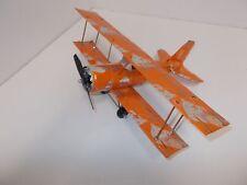 Aluminum soda can handcrafted airplane/RED BULL ORANGE /BI-PLANE