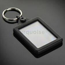 Premium Silicone Gel Clear Blank Keyrings Key Fobs 45 x 35 mm | Passport Photo