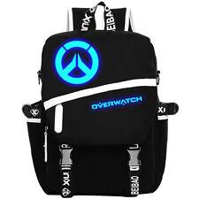 Overwatch Luminous Bag Canvas Shoulder Backpack School Rucksack Cosplay Gift EAW