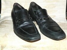 Mens Hugo Boss Black Leather Dress Loafers Size 11