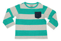 First Impressions Baby Boys 24 Months Rugby Striped Chest Pocket T-Shirt NWT