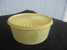 vintage retro  tupperware yellow cake biscuit canister