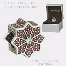Authentic Pandora Silver Limited Edition Poinsettia Black Friday Bead USB796800