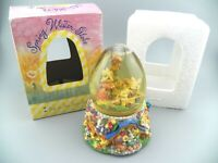 "VTG Spring Water Globe Music Box Plays "" Easter Parade "" Egg Shaped Dome GUC"