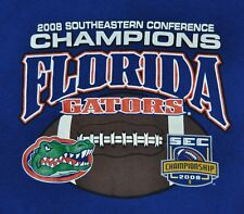 T-SHIRT S SMALL UNIVERSITY OF FLORIDA GATORS 2008 SEC FOOTBALL CONFERENCE CHAMPS