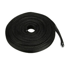 6mm Pet Cable Wire Wrap Expandable Braided Sleeving Black 10m Length