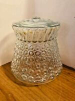 Vintage Mid Century Modern Clear Bubble Style Porch Lamp Light Glass Shade Cover
