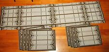 Frank Lloyd Wright Style Tapestry Table Runner & 8 Placemat Fabric Pieces