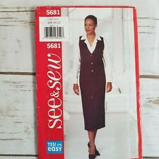 Butterick 5681 Womens Vest and Skirt Sewing Pattern Size 8 10 12