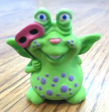 Hallmark Merry Miniatures 1990 Green And Purple Polka-Dotted Alien With Mask