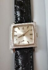 Longines 14k Solid White Gold 17J Small Man's or Unisex Wrist Watch, Ca. 1966