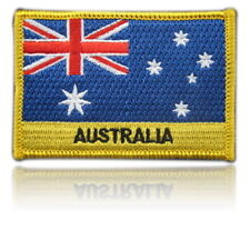 Australia Embroidered Flag patch -Iron on or Sew