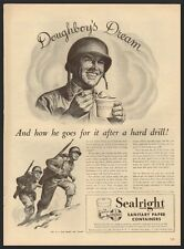 World War II Vintage Ad for Sealright Sanitary Paper Containers (120511)