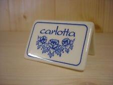 Présentoir publicitaire Royal Boch Carlotta bleu
