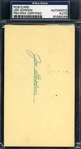 Joe Gordon Yankees Hof D.78 Signed Psa/dna Certified 1958 Gpc Autograph