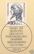 BRD 1992: Charlotte von Stein! Nr. 1582 mit Bonner Ersttagsstempel! 1A! 1704