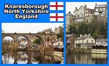 KNARESBOROUGH, NORTH YORKSHIRE, ENGLAND - SOUVENIR FRIDGE MAGNET - BRAND NEW