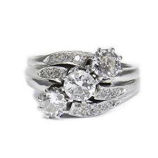 Antiker 1.36 ct Diamant Ring in 750 Weißgold Münchener Hofjuwelier um 1930