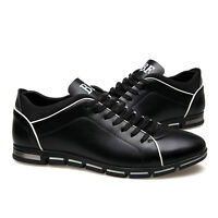 Men Running Sports Shoes Fashion Breathable Casual Athletic Sneakers PU Leather
