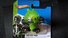 Hot Wheels 2012 Angry Birds Minion-como Nuevo En Tarjeta Corta