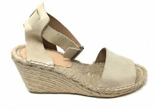 J. Crew Corsica Women's Size 9 Pale Gold Leather Espadrille Sandals That Buckle