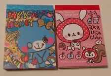 RARE Crux Kamio Love Honey aka USA Chan Kawaii Mini Memo pad Lot Japan