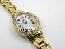 Rotary Ladies Gold Plated Stone Set Dress Watch - 100m