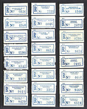 CINDERELLA: REGISTRATION LABELS X 24 MOST ARE FROM VICTORIA