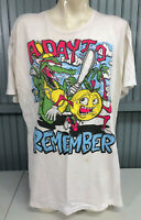 Day To Remember Mens White Band T-Shirt XL