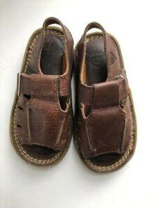 Dr Martens Vintage baby boys brown Leather Sandals size 8