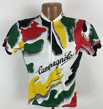 Vintage Campagnolo Canari Cycling Jersey Mens Small White Colorful Abstract USA
