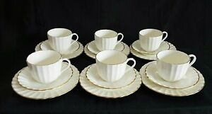 6 x ROYAL WORCESTER STRATHMORE CREAM COFFEE CUPS, SAUCERS & PLATES