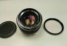 OLYMPUS OM 50mm F1.8  ZUIKO LENS + filter Exc Condition!