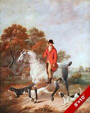 HUNTSMAN & DOGS FOX HUNT HORSE FOXHUNTING HUNTING ART PAINTING REAL CANVAS PRINT