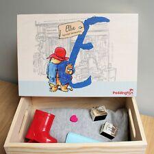 Personalised Paddington Bear Initial Memory Box Christening Baby Gift Keepsakes