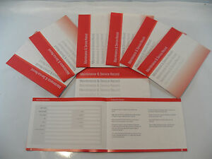 Replacement Generic Service History Book Suitable For Suzuki  Red