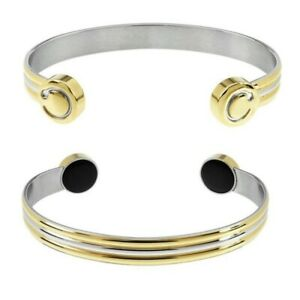 Bioflow Duet 2 Tone Duo Magnetic Therapy Bracelet Unisex Magnet Magnotherapy