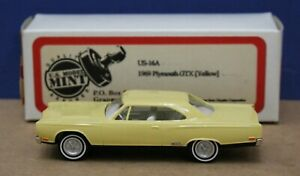 Brooklin US Model Mint 16A 1969 Plymouth GTX Yellow 1:43 Mint/ Box 1995